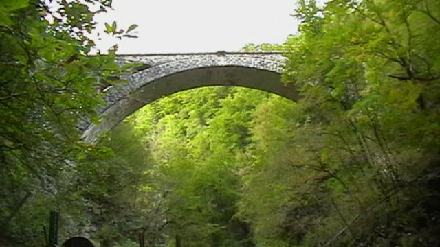 Steinbrücke in der Vintgar Klamm