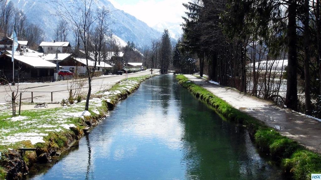 Kanal der weißen Traun, bei der alten Säge in Ruhpolding