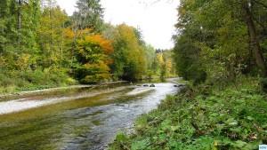 Fliegenfischen in der deutschen Traun, traditionelle Strecke
