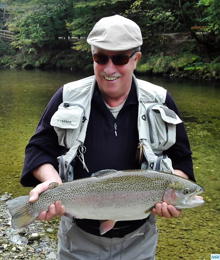 Fliegenfischen in der traditionellen Strecke der deutschen Traun von Rudi heger im Oktober 2015